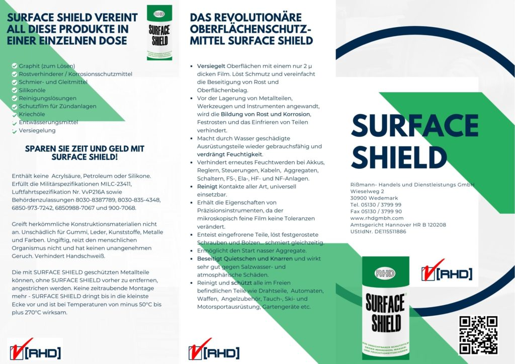 Surface SHield Spray Korrosionsschutz Industrie